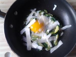 green egg with cheese